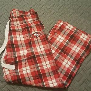 Football on pants 49ers
